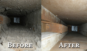Air duct cleaned by Air Duct Warriors